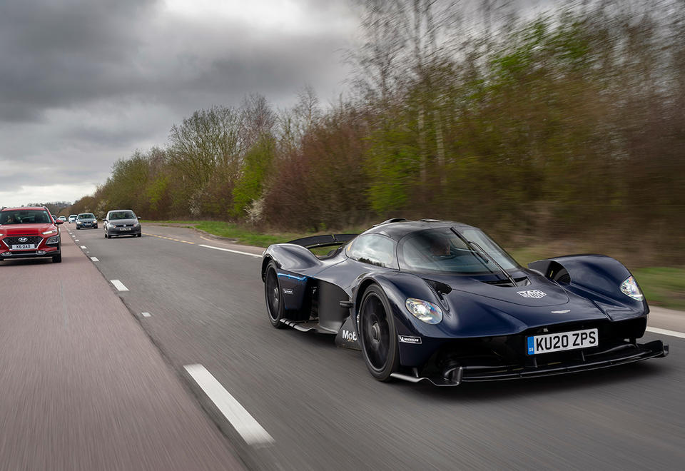 In pictures: Aston Martin's Valkyrie hypercar driven on public roads for the first time