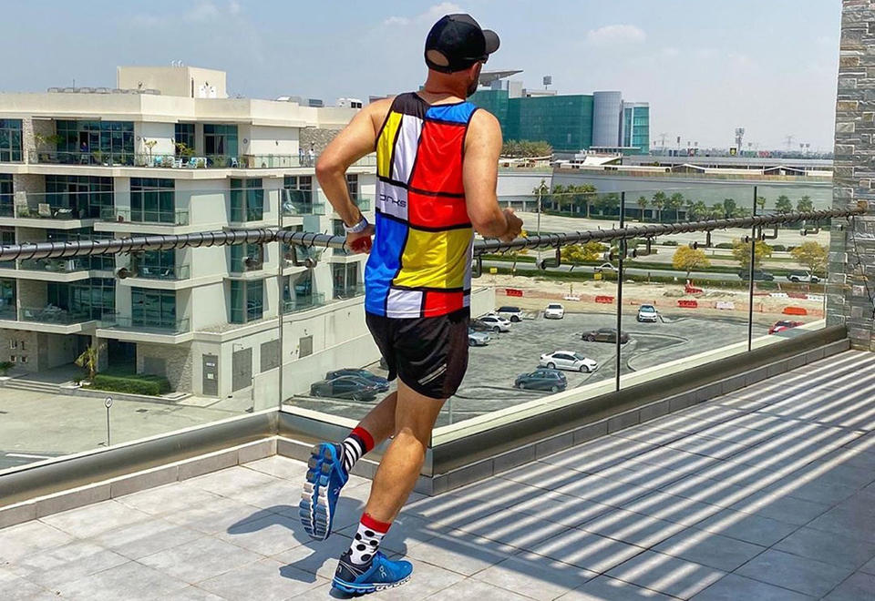 South African couple run 'balcony marathon' in Dubai