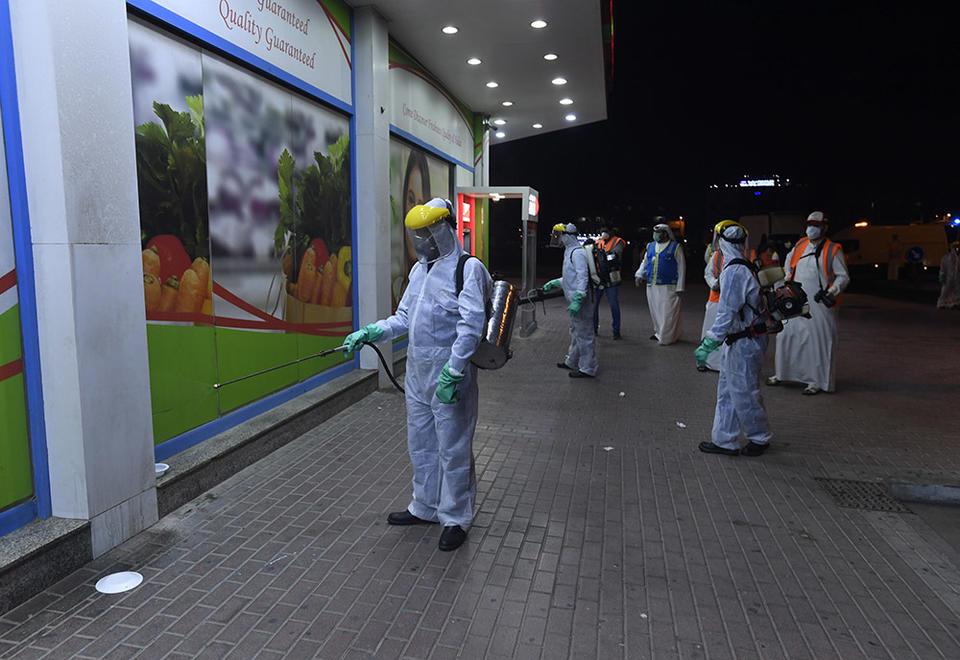 In pictures: Dubai mass sterilisation drive against coronavirus