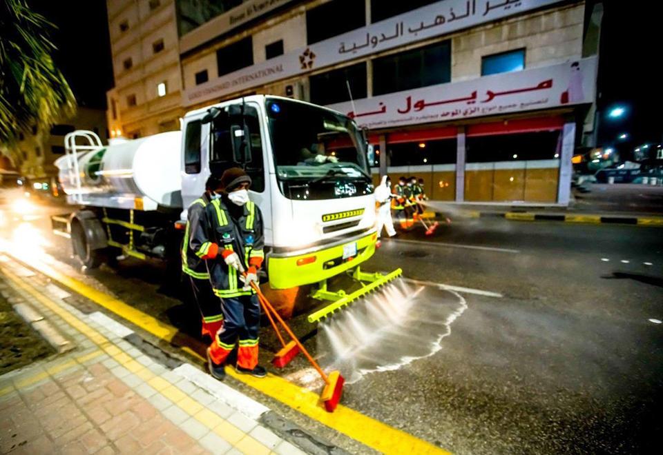 In pictures: Saudi Arabia's Covid-19 coronavirus pandemic disinfection drive