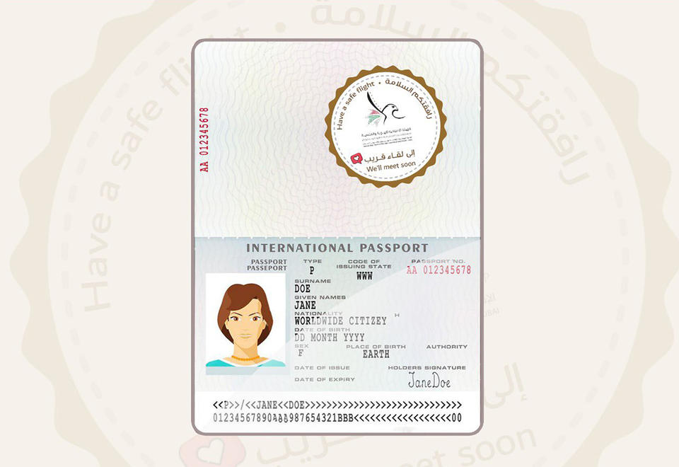 In pictures: Stranded passengers in Dubai get special goodbye sticker on passports