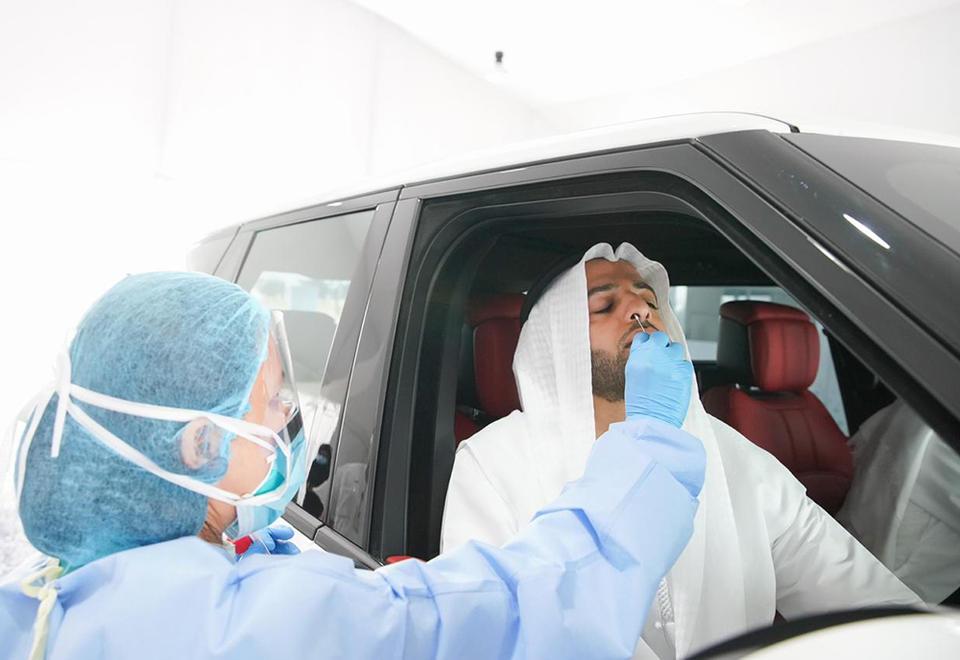 In pictures: Ras Al Khaimah Ruler opens drive-thru Covid-19 screening centre