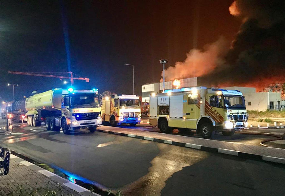 In pictures: Massive fire erupts at petroleum warehouse in Dubai's Jebel Ali