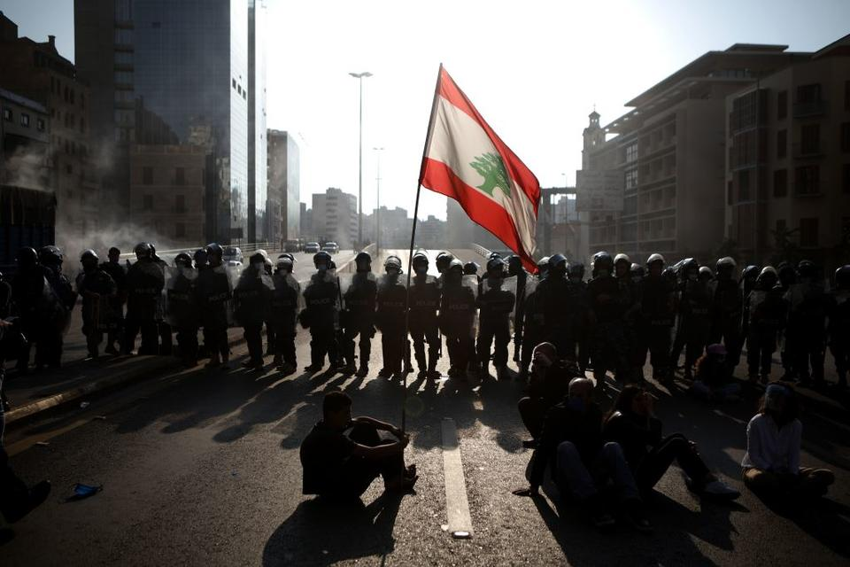 Lebanese protesters back on the streets as economy crumbles