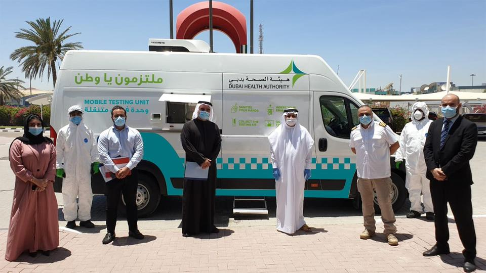 Dubai Health Authority launches mobile Covid-19 testing bus