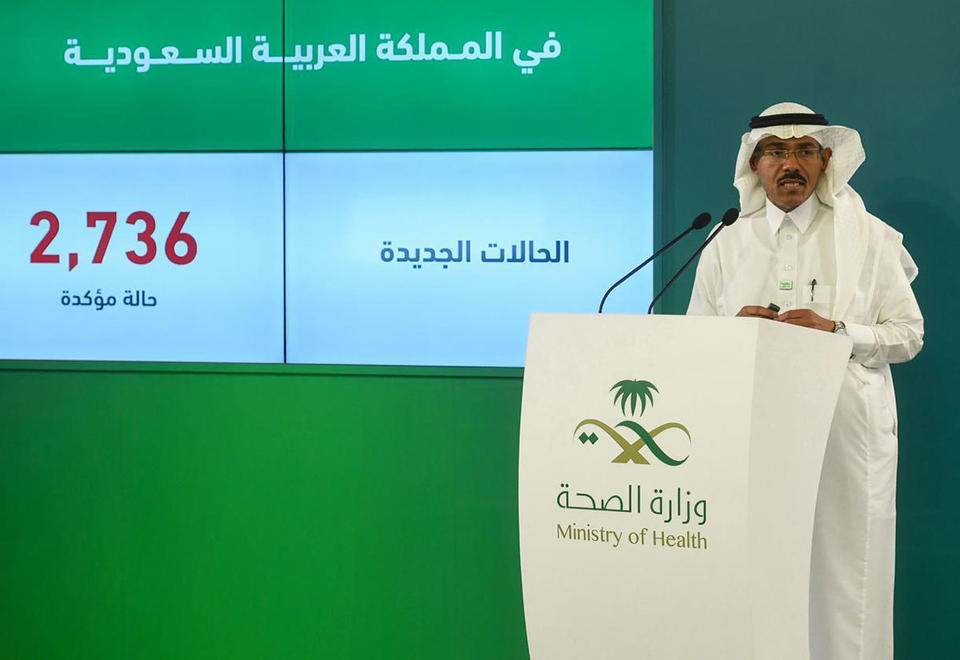 Saudi Arabia reports 2,736 new cases of Covid-19, ten more deaths