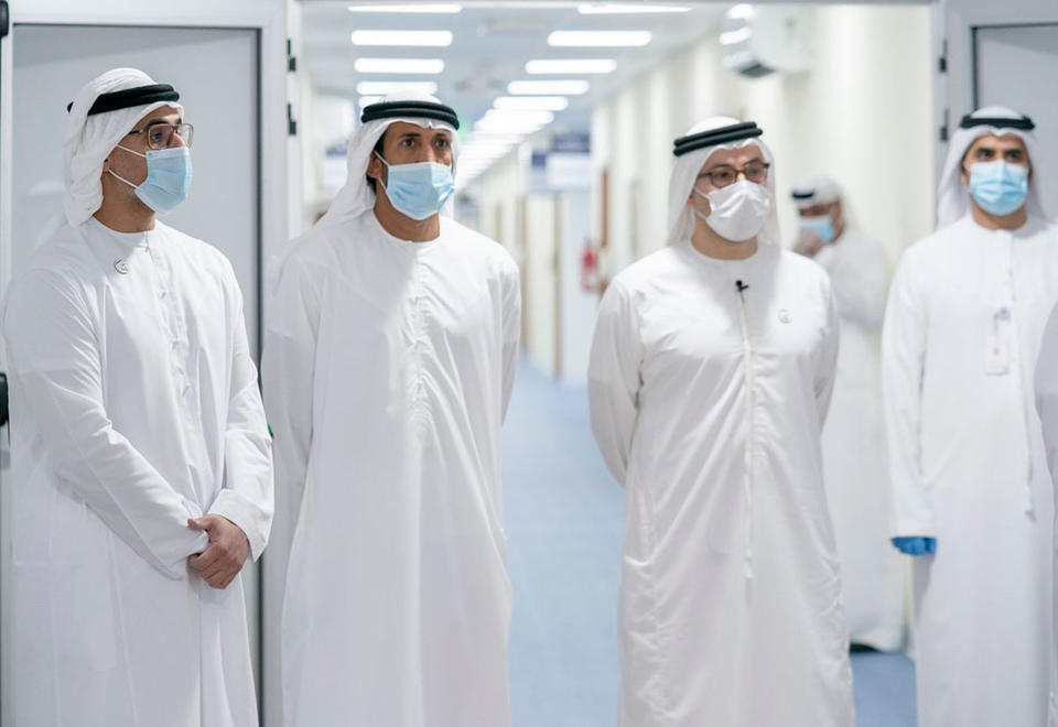 In pictures: Mohamed bin Zayed visits Covid-19 field hospital in Abu Dhabi