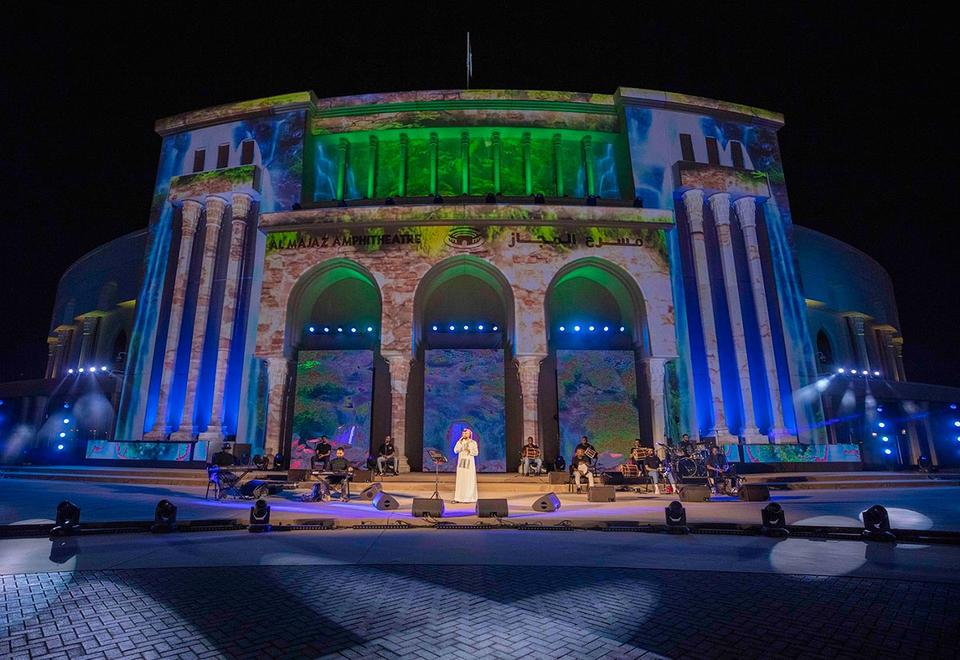 In pictures: Emirati star Mohamed Al Shehhi's performance at Al Majaz Amphitheatre broadcast live on social media