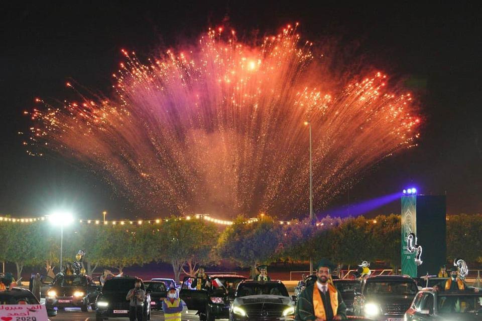 Bahrain school holds graduation 'drive-through' on kingdom's F1 track