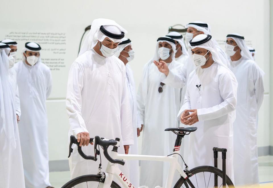 In pictures: Mohamed bin Zayed visits Abu Dhabi's Mubadala-owned Strata