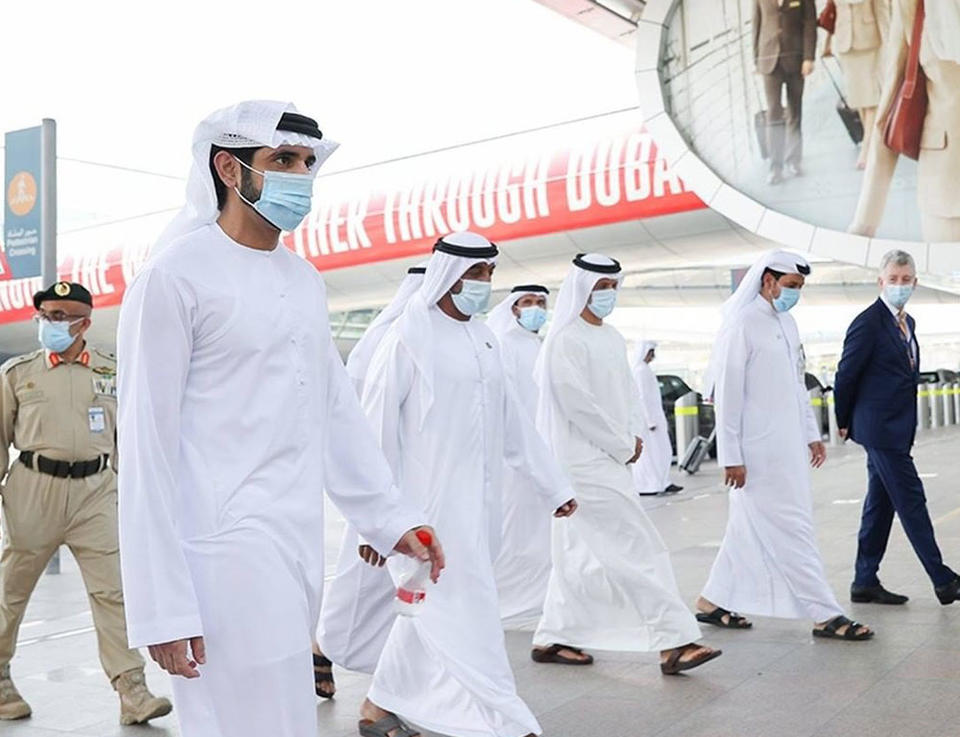 In pictures: Sheikh Hamdan visits Dubai International airport as city reopens to tourists