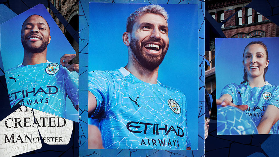 In pictures: Puma unveils new Manchester City Home kit