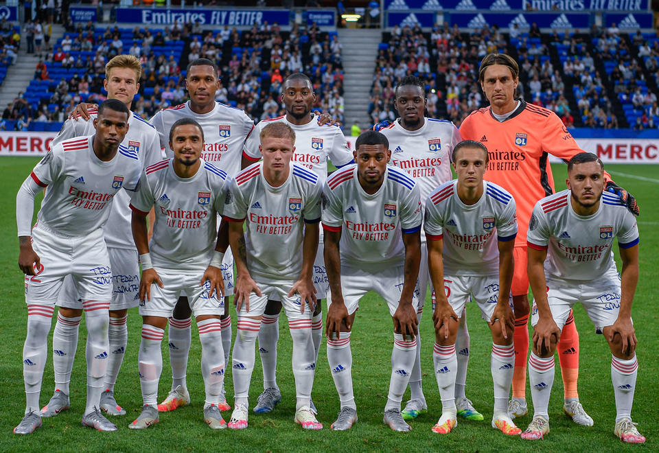 In pictures: French football club Olympique Lyonnais reveal new jersey in Glasgow Rangers friendly