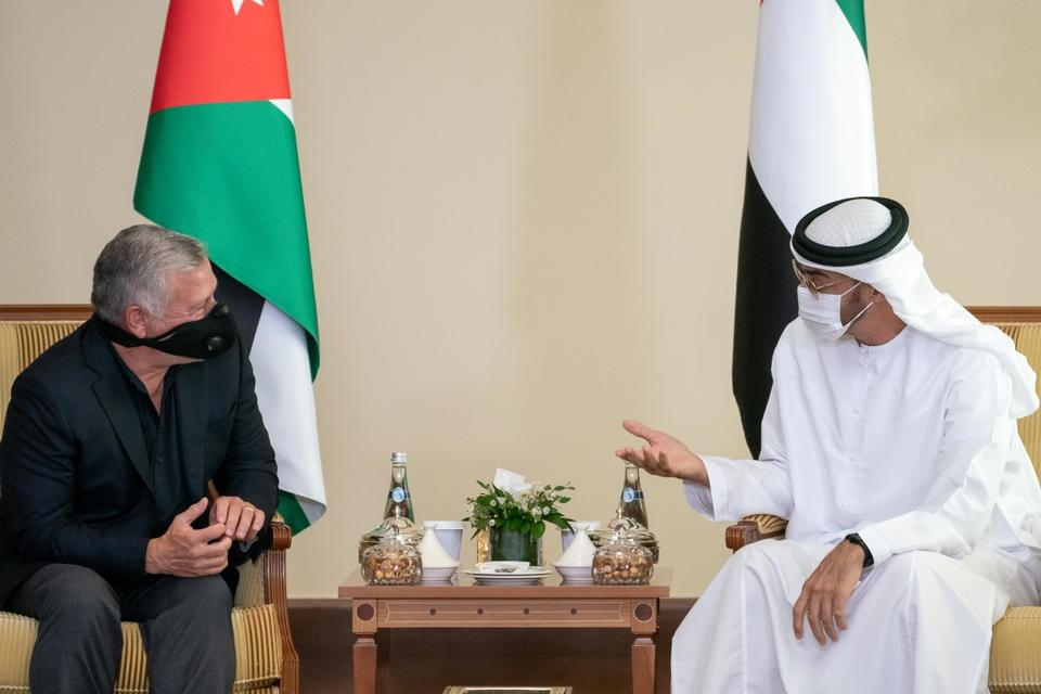 In pictures: Mohamed bin Zayed and King Abdullah II meet in Abu Dhabi