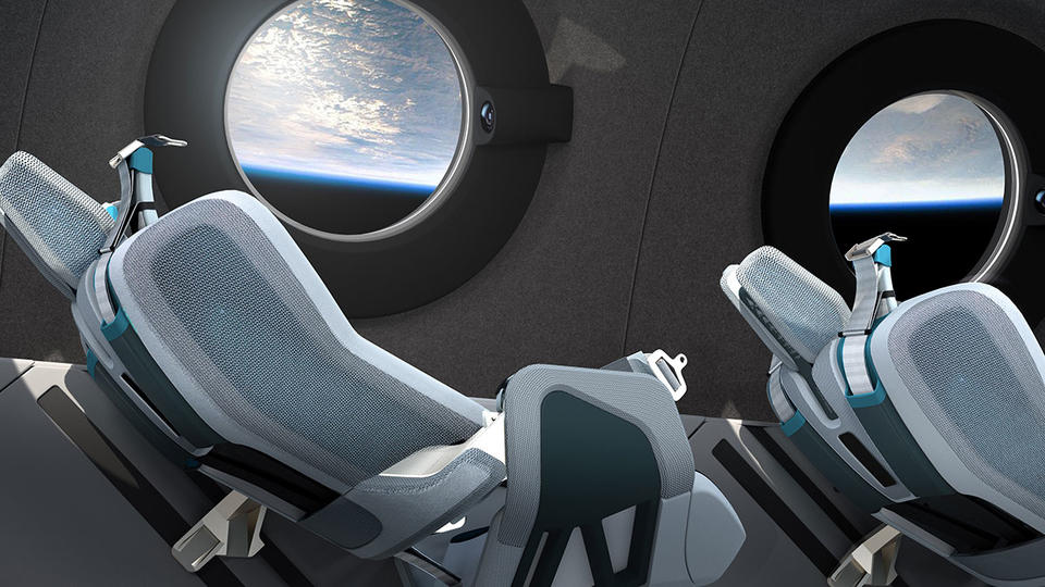 In pictures: A look inside Virgin Galactic spaceship cabin interior and seats