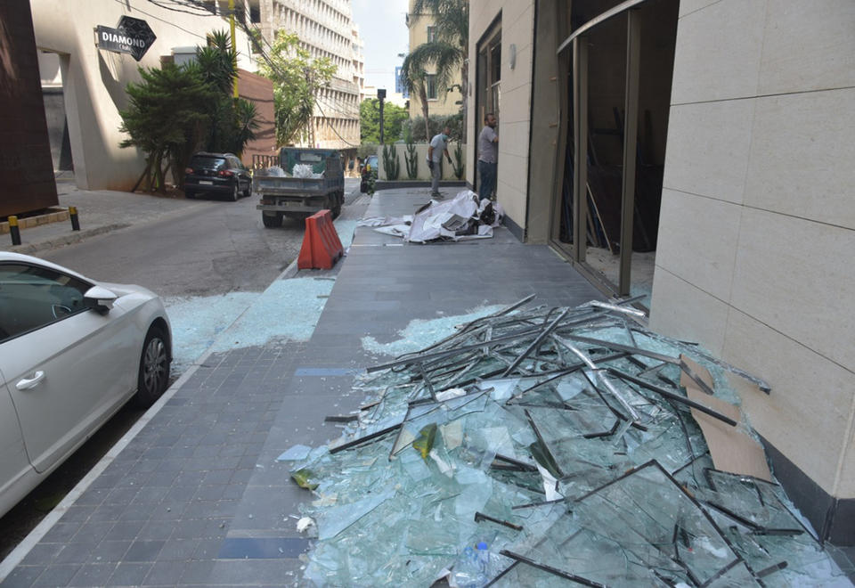 From window to jug: Lebanese recycle glass from Beirut blast