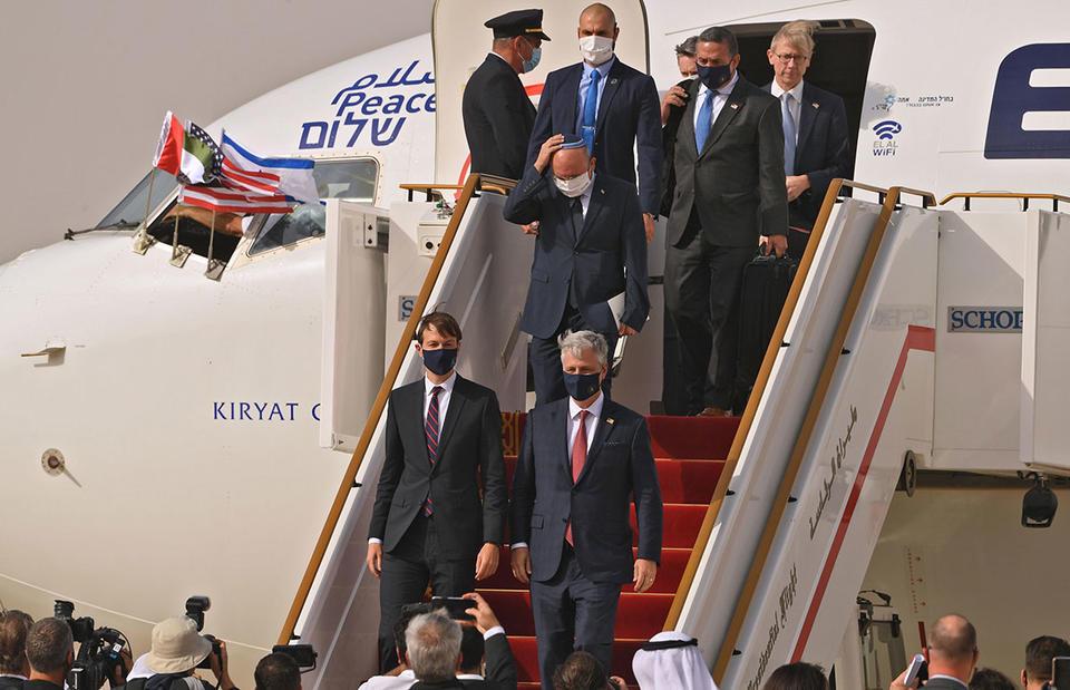 US-Israeli delegation leaves Abu Dhabi after historic visit