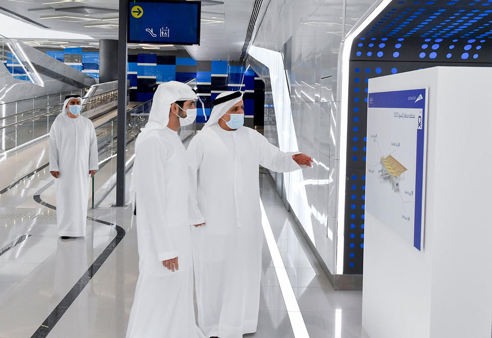 In pictures: Crown Prince of Dubai tours Dubai Metro Route 2020 project