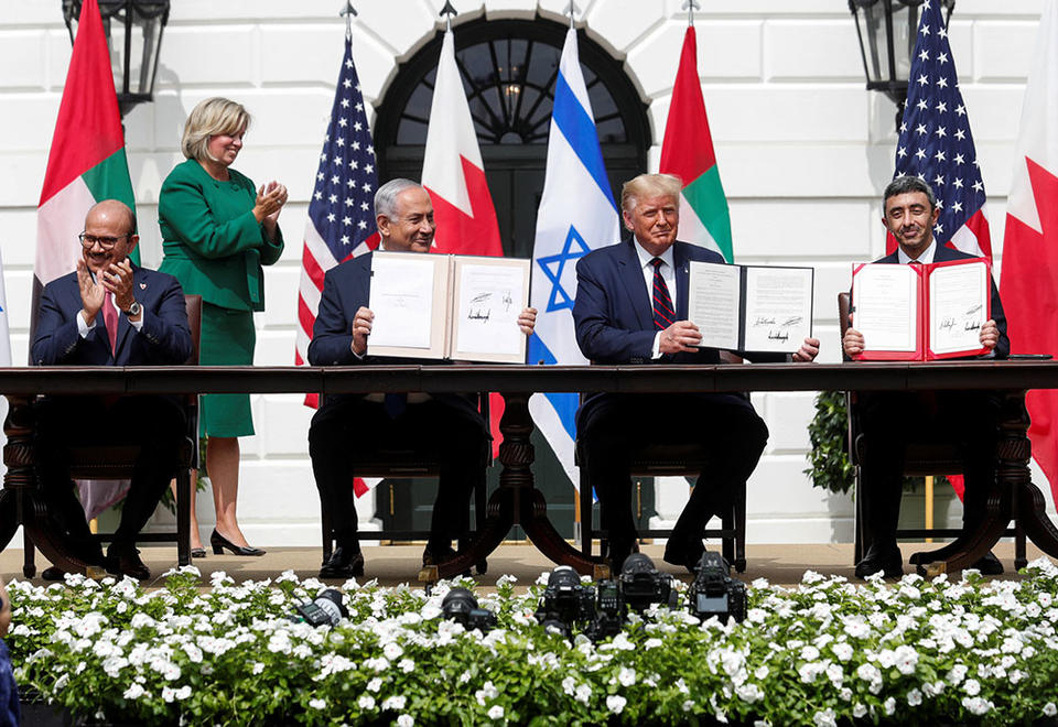 In pictures: UAE, Bahrain establishes ties with Israel in Trump-brokered deal