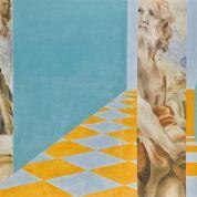 Samia-Halaby,-Untitled-(Big-Michelangelo-Perspective-No.-162),-oil-on-canvas,-1965-(est.-$30,000-40,000).jpg